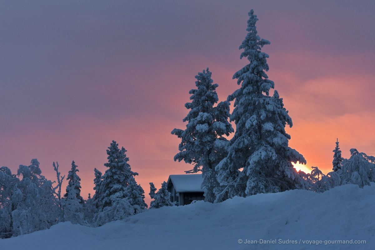 Dans la montagne de Levi, Laponie