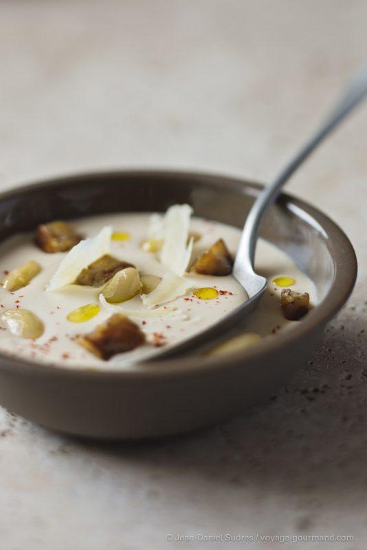Crème de haricots tarbais